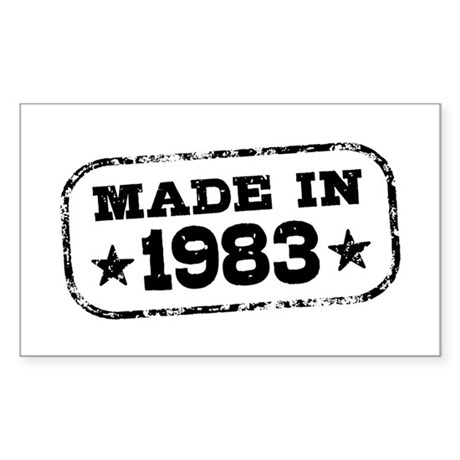 Made In 1983 Sticker (Rectangle)