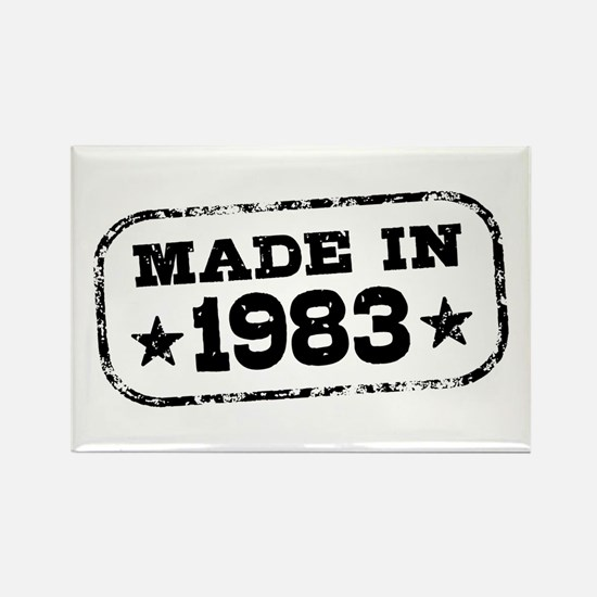 Made In 1983 Rectangle Magnet