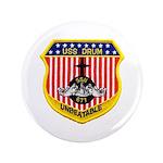 """USS DRUM 3.5"""" Button"""