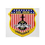 USS DRUM Throw Blanket