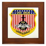 USS DRUM Framed Tile