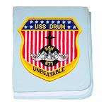 USS DRUM baby blanket