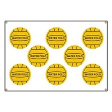 Water Polo Balls Banner