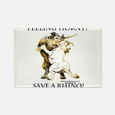 Feeling Horny? Save a Rhino! Rectangle Magnet