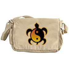 Gold Yin Yang Turtle Messenger Bag