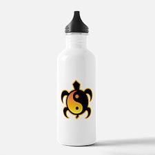 Gold Yin Yang Turtle Water Bottle