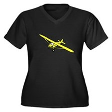 Yellow Cub Women's Plus Size V-Neck Dark T-Shirt
