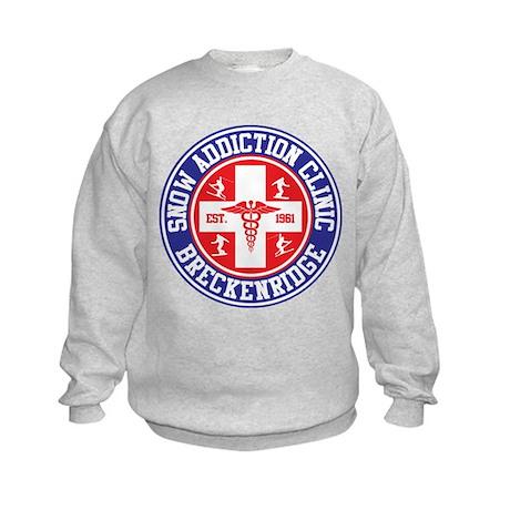 Breckenridge Snow Addiction Clinic Kids Sweatshirt