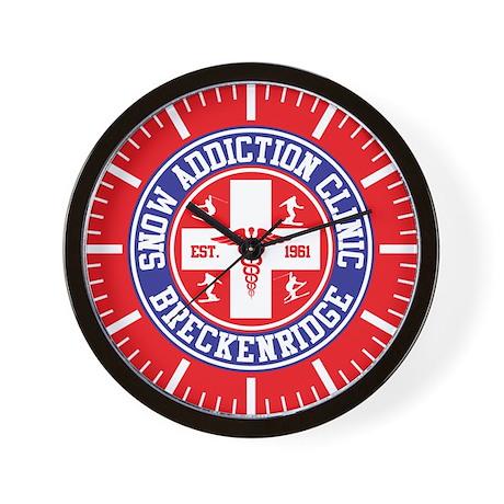 Breckenridge Snow Addiction Clinic Wall Clock