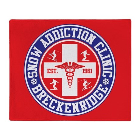 Breckenridge Snow Addiction Clinic Throw Blanket