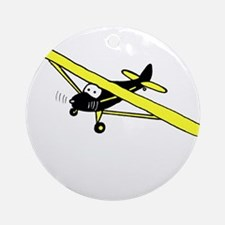 Black and Yellow Cub Ornament (Round)