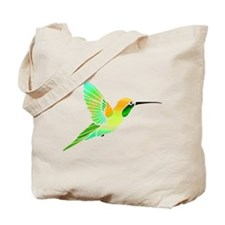 Lemon Lime Sorbet Hummingbird Tote Bag