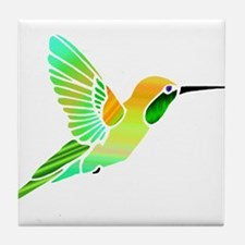 Lemon Lime Sorbet Hummingbird Tile Coaster