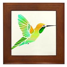 Lemon Lime Sorbet Hummingbird Framed Tile