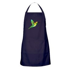Lemon Lime Sorbet Hummingbird Apron (dark)