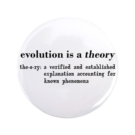 """Evolution Definition of Theory 3.5"""" Button"""