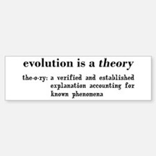 Evolution Definition of Theory Bumper Bumper Sticker