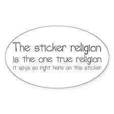Sticker Religion Decal