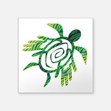 "Winged Turtle Square Sticker 3"" x 3"""