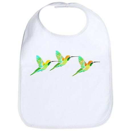 Trio of Lemon Lime Sorbet Hummingbirds Bib