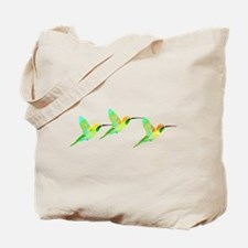 Trio of Lemon Lime Sorbet Hummingbirds Tote Bag