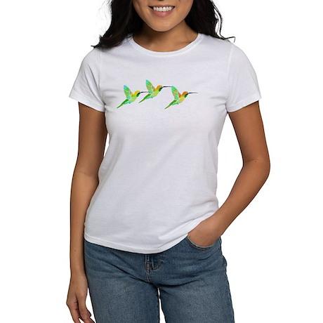 Trio of Lemon Lime Sorbet Hummingbirds Women's T-S