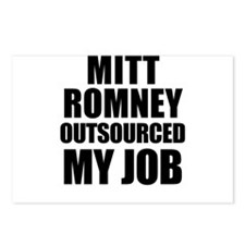 Mitt Romney Outsourcing Postcards (Package of 8)