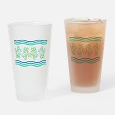 Turtles in Waves Drinking Glass