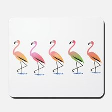 March of the Tropical Flamingos Mousepad