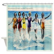 Long Island Bathing Beauties Shower Curtain