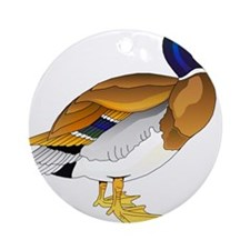 Merry Mallard Ornament (Round)