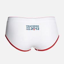 Teachers For Barack Obama 2012 Women's Boy Brief