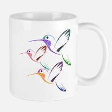 Patchwork Trio of Hummingbirds Mug