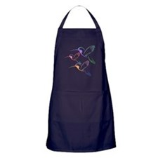 Patchwork Trio of Hummingbirds Apron (dark)