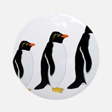 Penguin Parade Ornament (Round)