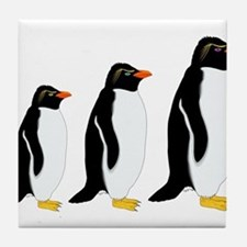 Penguin Parade Tile Coaster