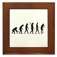 Table tennis evolution Framed Tile