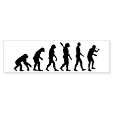 Table tennis evolution Bumper Sticker