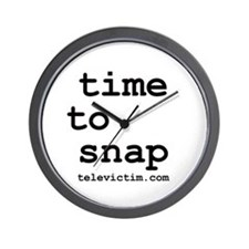 """time to snap"" Wall Clock"