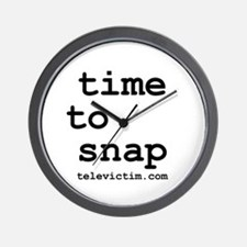 """""""time to snap"""" Wall Clock"""