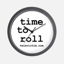 """""""time to roll"""" Wall Clock"""