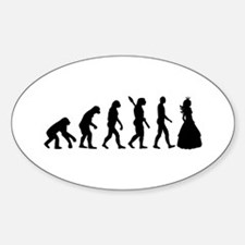Princess evolution Sticker (Oval)