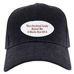 The Cocktail Lady Black Cap