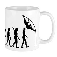 Pole vault evolution Mug