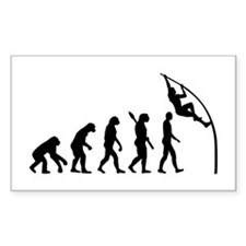 Pole vault evolution Decal