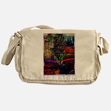 Psychedelic Tree Messenger Bag