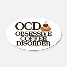 Funny Coffee Oval Car Magnet