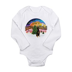 XMusic2 - Doberman (Nat) Long Sleeve Infant Bodysu