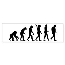 Hiking evolution Bumper Stickers