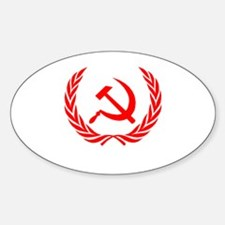 Soviet Wreath Red Sticker (Oval)